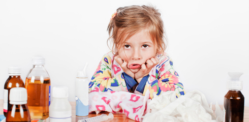 Проявление симптомов при мононуклеозе
