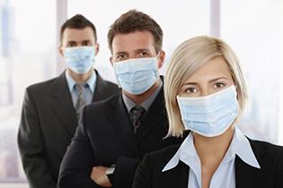 При инфекциях необходимо носить маску