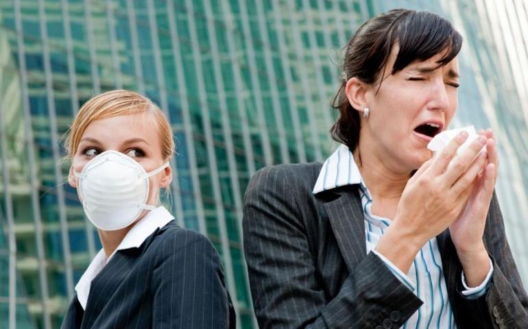 Воздушно-капельным путем передаются инфекции