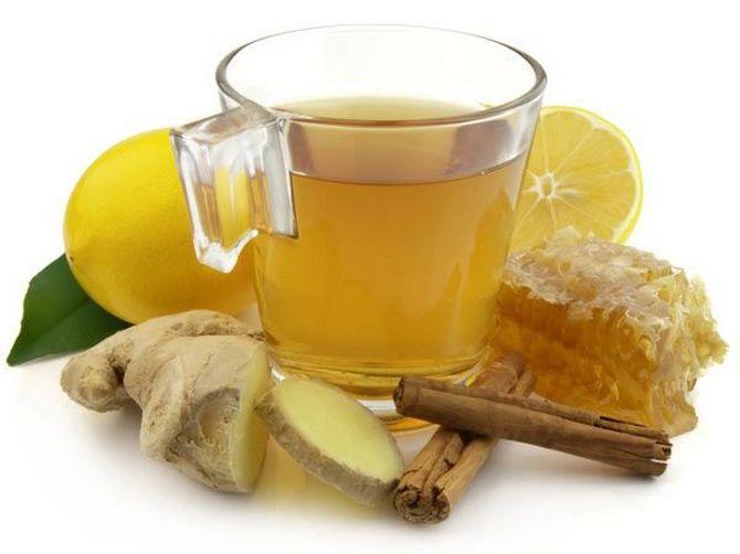 Чай с лимоном и мёдом